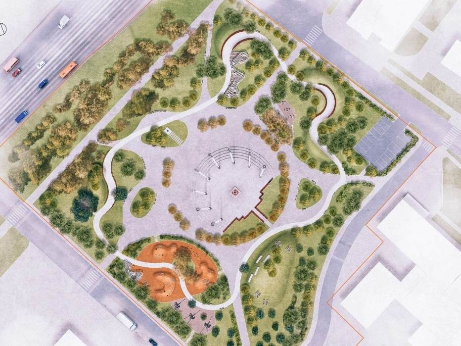 Детская площадка в виде холмов и подсветка деревьев появятся на площади Маршала Жукова - фото 2
