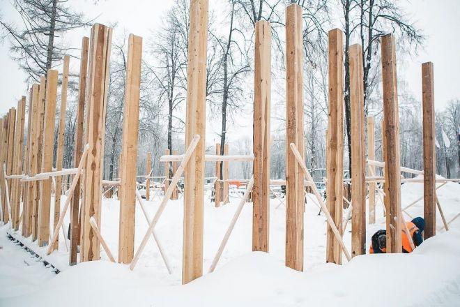 Благоустройство парка «Швейцария» продолжается, несмотря на морозы - фото 2