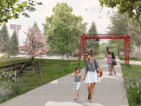 Индустриальные арт-объекты, скейт-парк и перголы: представлена итоговая концепция площади Героев - фото 3