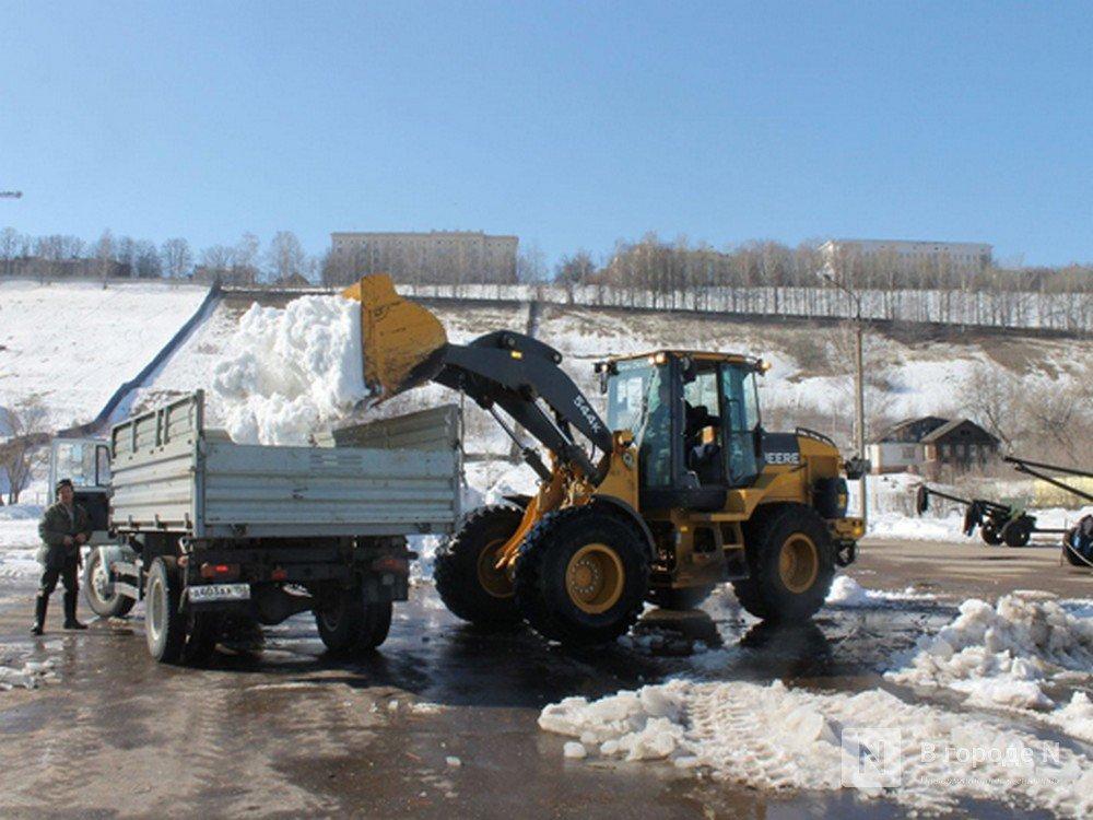 37,5 тысяч кубометров снега вывезли с нижегородских улиц в праздники - фото 1