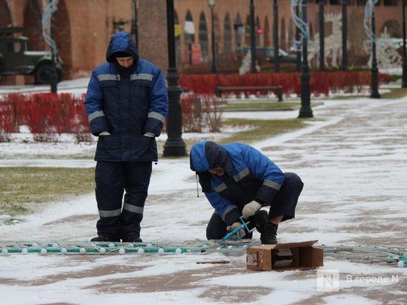 Нижегородский кремль начали украшать к Новому году - фото 12
