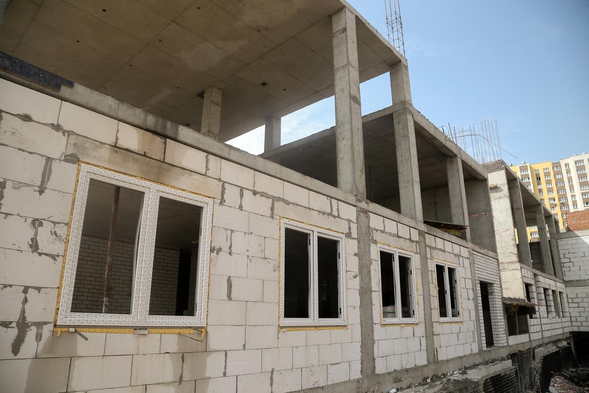 Строительство детсада в Новой Кузнечихе отстает от графика - фото 1
