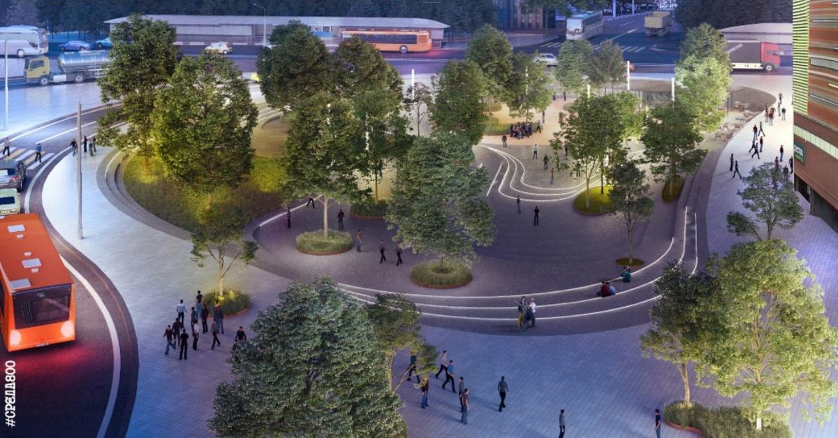 Благоустроенный террасированный парк появится на площади Лядова - фото 1
