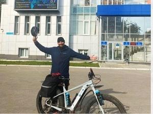 На велосипеде в Нижний Новгород приедет путешественник из Иркутска
