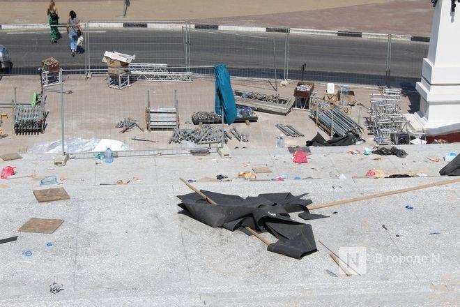 Чкаловскую лестницу открыли, несмотря на продолжающиеся ремонтные работы - фото 50